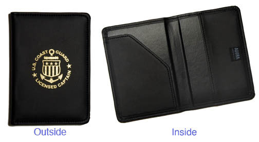 Captain Leather Holder for the NEW Merchant Mariner License