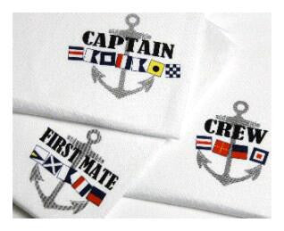 Flag T-Shirts for Captain, First Mate and Crew