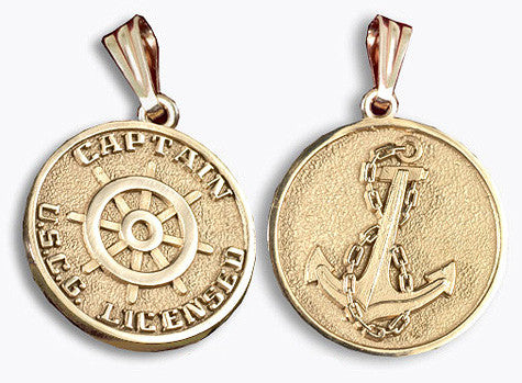 14k Gold Mariner's Medallion