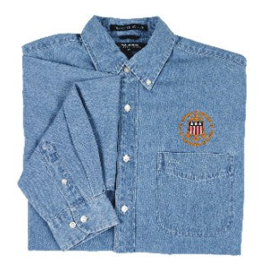 USCG Licensed Captain Long-Sleeve Shirt - Light Denim