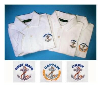 Men's - Captain, First Mate, and Crew Polos - Anchor Logo