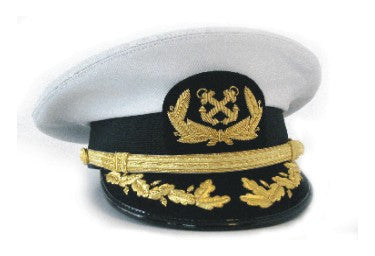 Officer's Captain Hat With Deluxe Visor