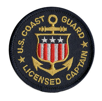 United States Coast Guard Licensed Captain Patch