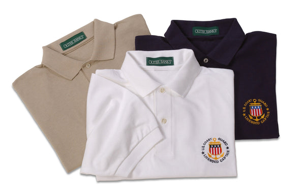 Men's - Captain Polo - USCG Licensed Logo