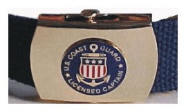 Web Belt with USCG Licensed Captain Logo