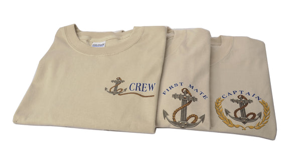 Captain, First Mate, Crew T-Shirt