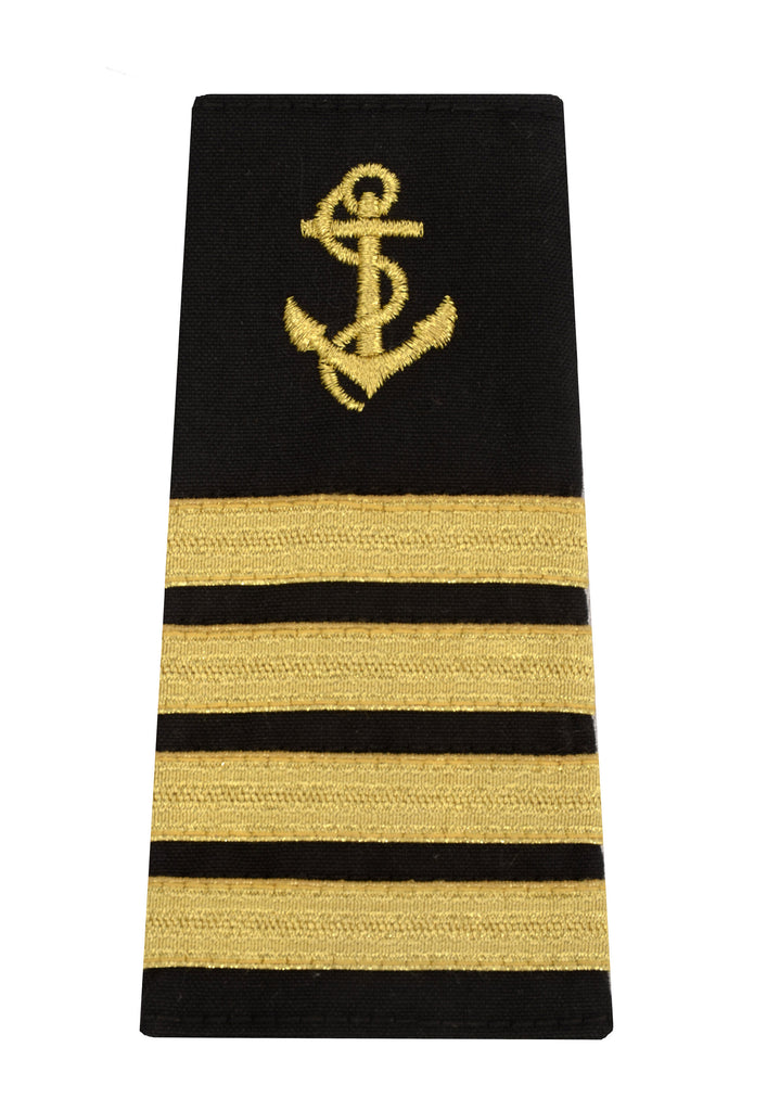 captain epaulet with anchor insignia and 4 stripes