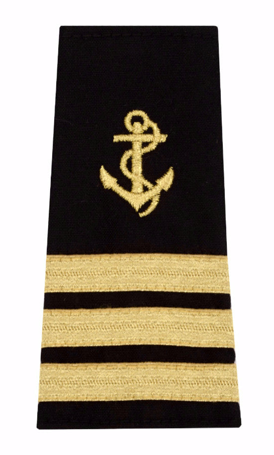 Captain Epaulet with Anchor Insignia, 3 Stripes