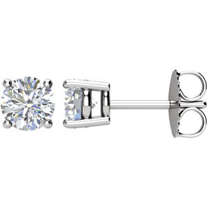1ctw. Round Diamond Stud Earrings