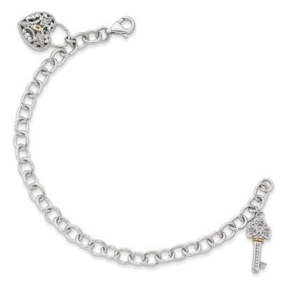 Sterling Silver Key to Your Heart Bracelet
