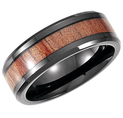 Cobalt and Rosewood Wedding Band