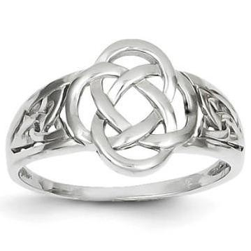 14Karat White Gold Celtic Knot Ring