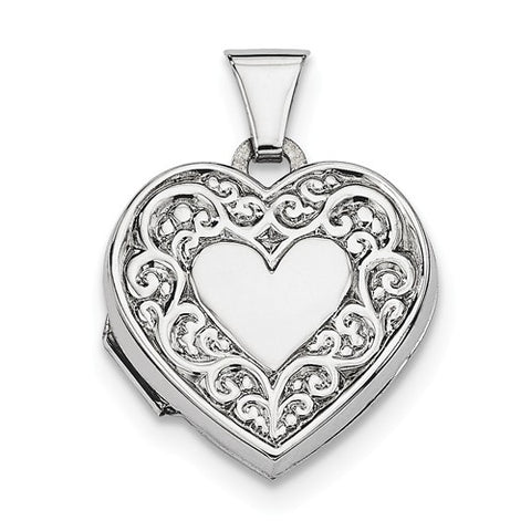Sterling Silver Small Heart Shaped Locket