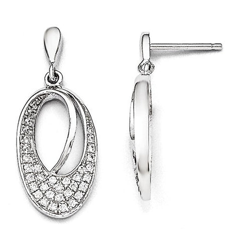 Sterling Silver & Cubic Zirconia Dangle Earrings