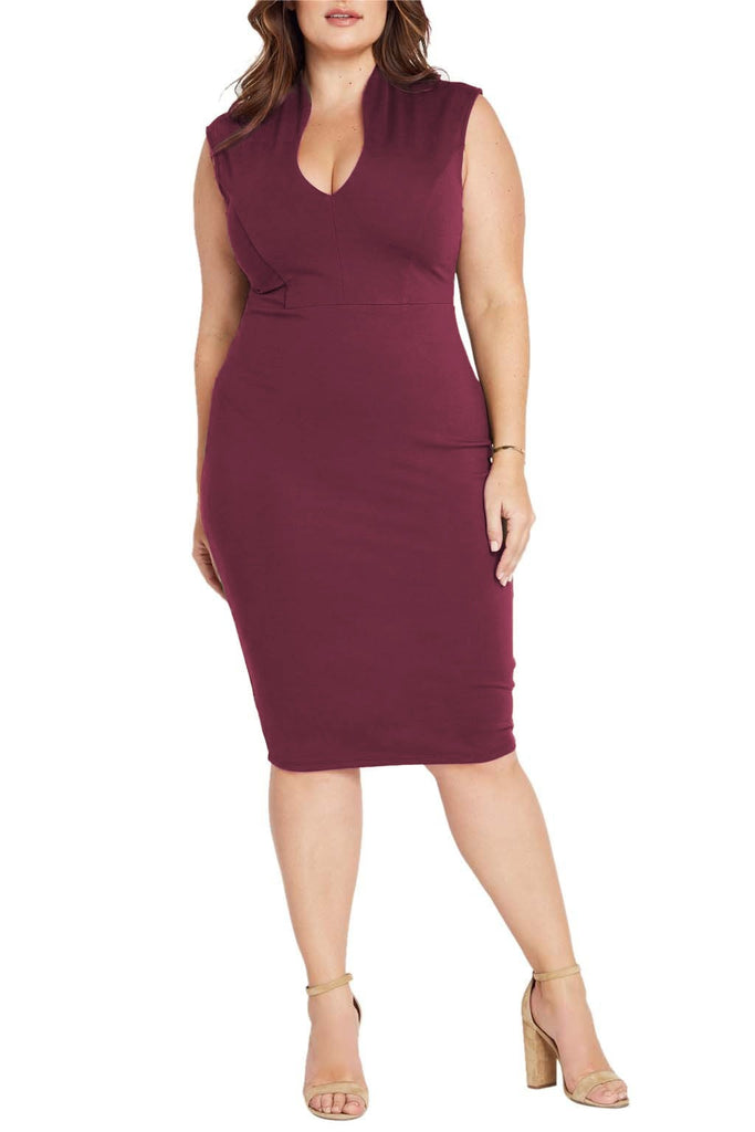 Plus size bodycon dress.