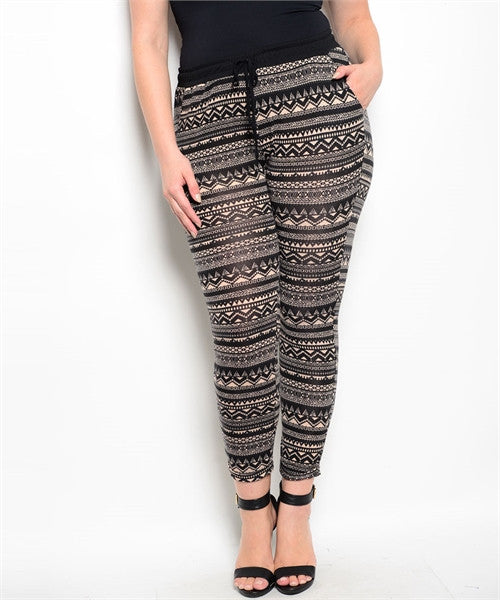 BLACK TAUPE PLUS SIZE PANTS.