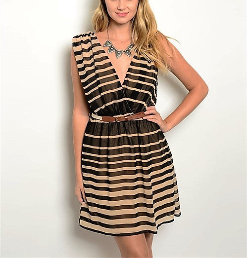 Black Tan Dress