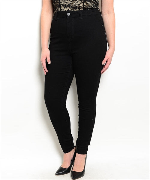 PLUS SIZE BLACK PANTS