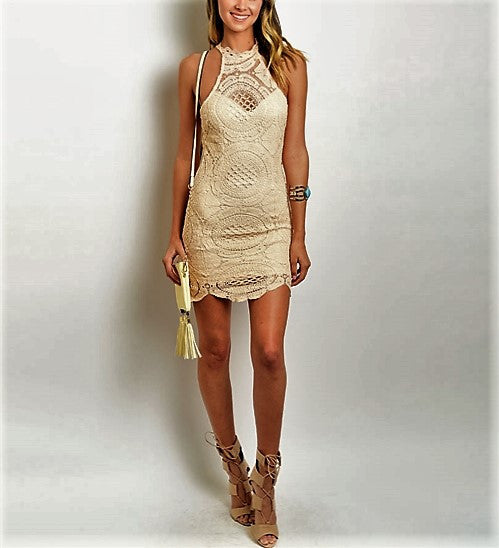 Crochet Dress Mini Dress