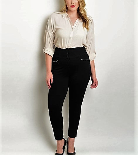 Plus Size Black Pants.