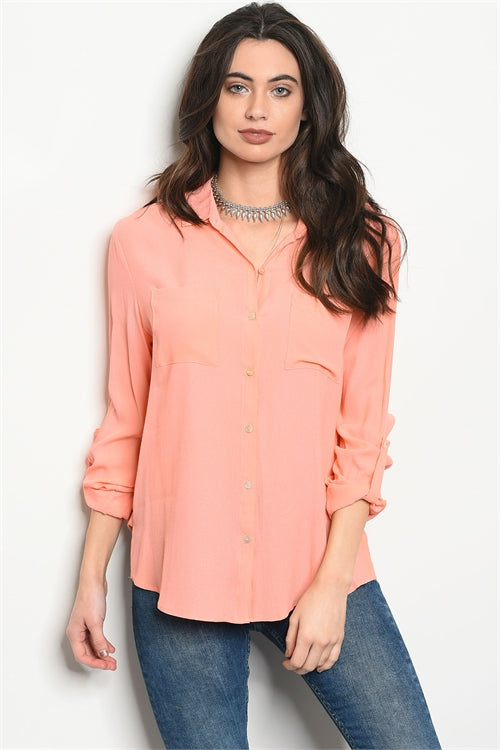 Cute peach top