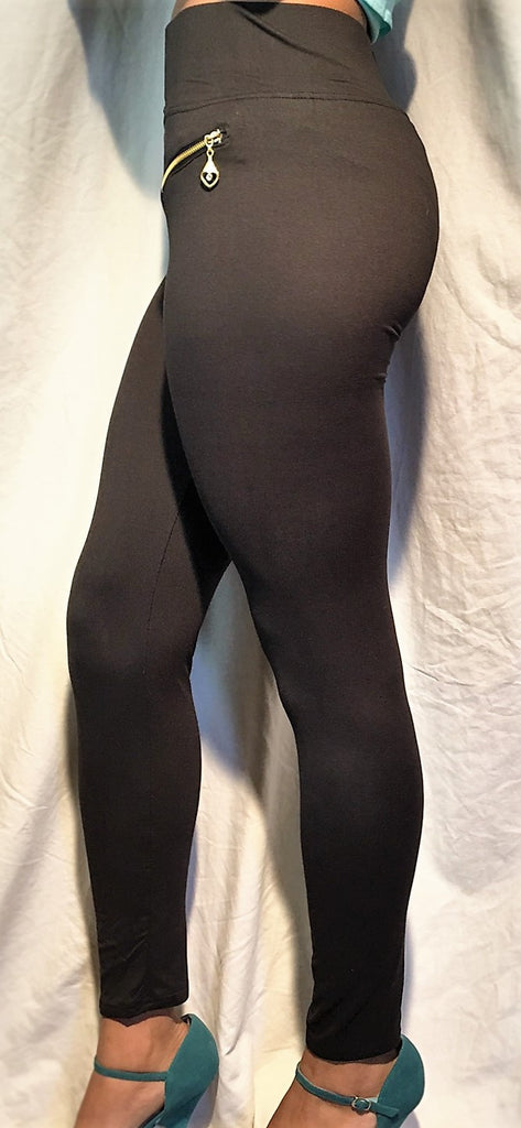 High Waist, Zipppered Leggings