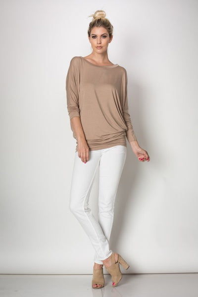 Long sleeve banteau top