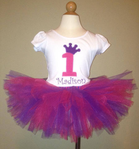 Princess Crown Number Tutu Set (Available in 1-9)