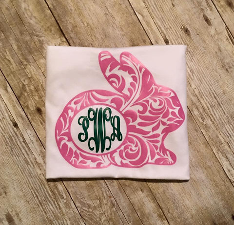 Flourish Bunny Monogram Shirt