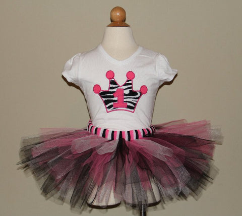 Princess Crown Tutu Set (Available in 1-9)