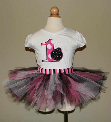 Ladybug Birthday Tutu Set (Available in 1-5)