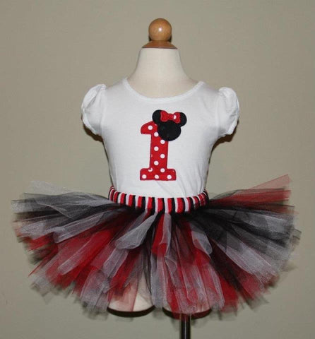 Minnie Mouse Tutu Set with Red and White Polka Dots(Available in 1-9)