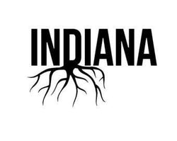 Indiana State Roots Vinyl Car Decal Bumper Window Sticker