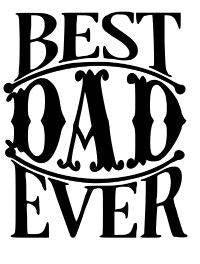 Best Dad Ever Fathers Day Vinyl Car Decal Bumper Window Sticker
