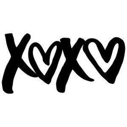 XOXO Love Vinyl Car Decal Bumper Window Sticker Any Color Multiple Sizes Jenuine Crafts
