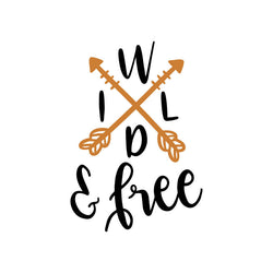 Wild and Free Arrow Vinyl Car Decal Bumper Window Sticker Any Color Multiple Sizes Jenuine Crafts