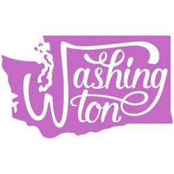 Washington State Vinyl Car Decal Bumper Window Sticker Any Color Multiple Sizes Jenuine Crafts