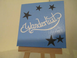 Wonderlust Star Mini Canvas Hand Painted Sign Magnet Home Decor Jenuine Crafts