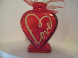 Red Glass Gold Infinity Love Vase Home Decor Jenuine Crafts
