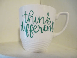 Think Different Weaved Mug Coffee Cup Home Decor Gift Jenuine Crafts