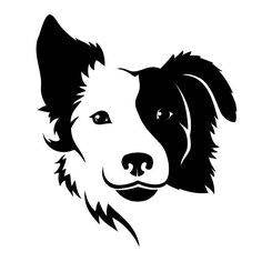 Border Collie Dog Love Breed Vinyl Car Decal Bumper Window Sticker Any Color Multiple Sizes Jenuine Crafts