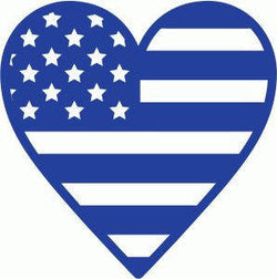 USA Heart Flag Vinyl Car Decal Bumper Window Sticker Any Color Multiple Sizes