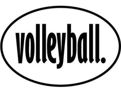 Volleyball Sports Vinyl Car Decal Bumper Window Sticker Any Color Multiple Sizes Jenuine Crafts