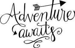 Adventure Awaits Arrow Travel Vinyl Car Decal Bumper Window Sticker Any Color Multiple Sizes Jenuine Crafts