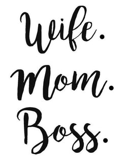 Wife Mom Boss Vinyl Car Decal Bumper Window Sticker Any Color Multiple Sizes Jenuine Crafts