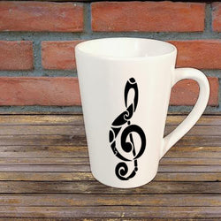 Treble Clef Music Mug Coffee Cup