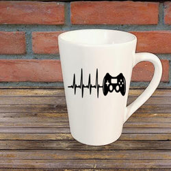 Video Game Heart Beat Mug Coffee Cup Gift Home Decor Any Color