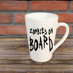 Zombies on Board Horror Mug Coffee Cup Home Decor Gift Any Color