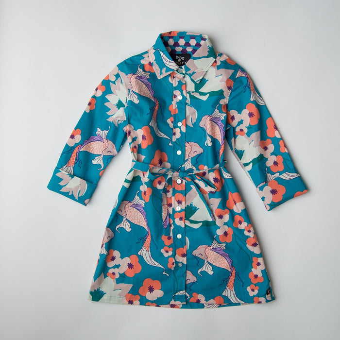 Koi Shirt Dress