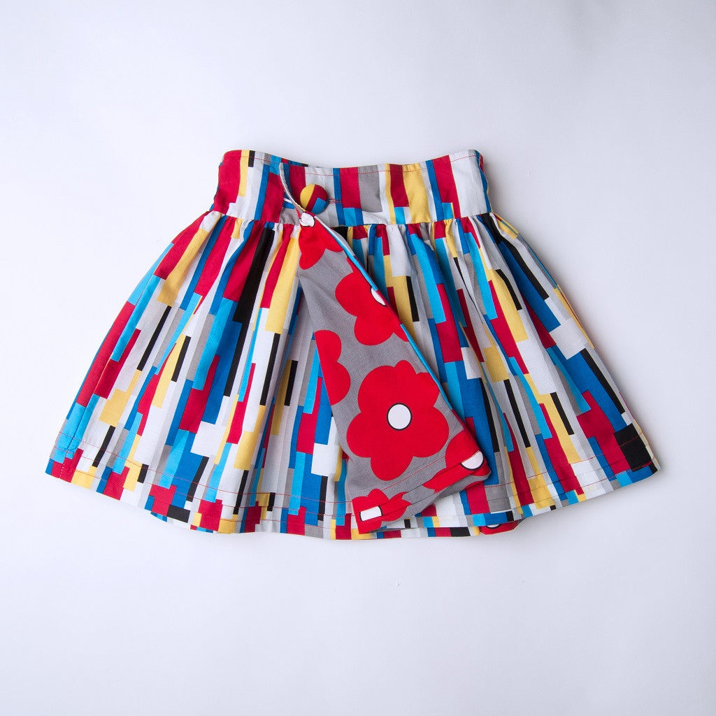 MOMA Reversible Dirndl Wrap Skirt